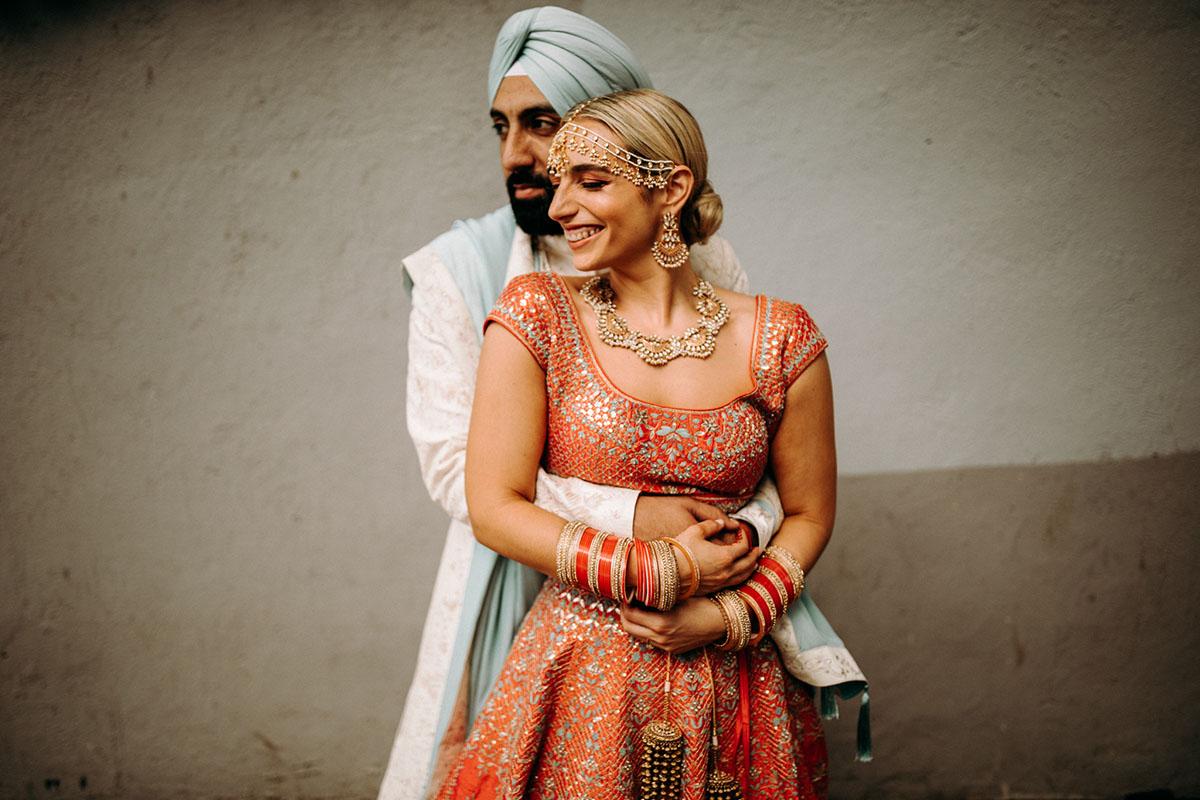 Hindu Jewish Wedding couple